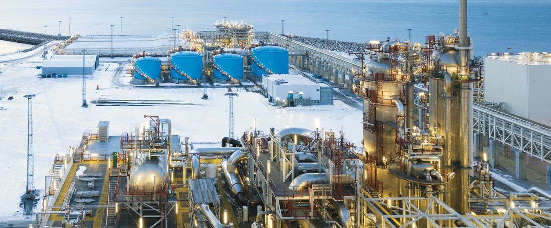 Onshore Erdgasaufbereitungsanlage (©The Linde Group).